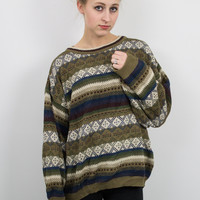 Vintage Neutral Tribal Sweater
