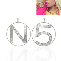 N5 Nicki Minaj Designer Inspired Silver Hoop Earrings