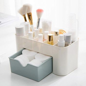 Useful Organizer Office Storage Drawer Desk Makeup Case Plastic Makeup Brush Box Lipstick Remote Control Holder Home Storage
