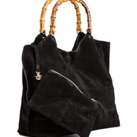 Suede Shopper with Clutch Bag - from H&M