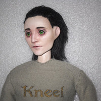 OOAK Loki Tom Hiddleston Inspired Art Doll Civilian Outfit