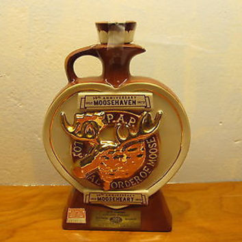 VINTAGE MOOSEHEART MOOSEHAVEN WHISKEY DECANTER
