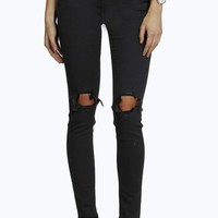 Sarah 5 Pkt High Rise Distressed Jeans