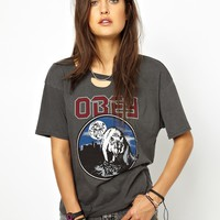 Obey | Obey Wolf Logo T-shirt at ASOS