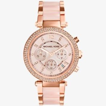 Parker Rose Gold-Tone Blush Acetate Watch | Michael Kors