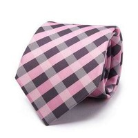 Pink and Purple Checkered Tie