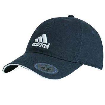 DCCKJ1A Adidas Stylish Ladies Classic Embroidered Pure Cotton Four Seasons Sport Hat Sun Cap Outdoor Golf Hat Baseball Cap Dark Blue