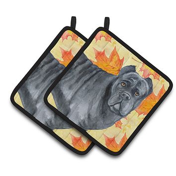 Cane Corso Fall Pair of Pot Holders BB9955PTHD