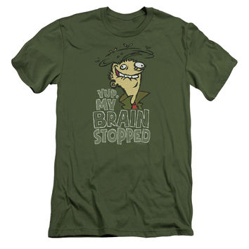 ED EDD N EDDY/BRAIN DEAD ED - S/S ADULT 30/1 - MILITARY GREEN -