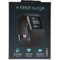 Fitbit Surge Fitness Super Watch Activity Tracker Heart Rate Monitor Large Black
