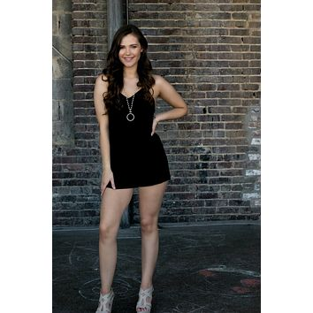 All for You Romper-Black