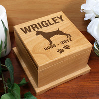 Engraved Dog Breed Pet Memorial Urn