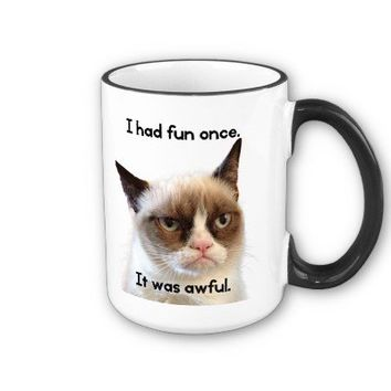 Original Grumpy Cat -I had fun once. It was awful. Coffee Mug from Zazzle.com