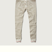 Thermal Button Fly Joggers