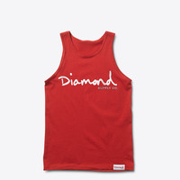 Diamond Supply Co. - OG Script Tank - Red