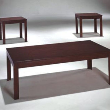 Dark Brown Wood Coffee and End Table   Pierce Espresso Three Piece Set   American Freight
