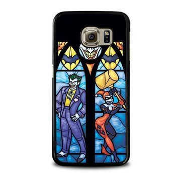 joker and harley quinn art samsung galaxy s6 case cover  number 1