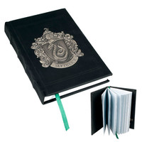 Slytherin Metal Crest Journal | Universal Orlando™