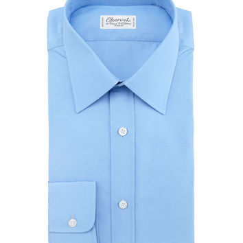 Barrel-Cuff Poplin Shirt, Size: