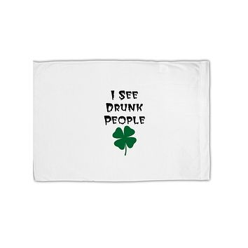 I See Drunk People Funny Standard Size Polyester Pillow Case by TooLoud