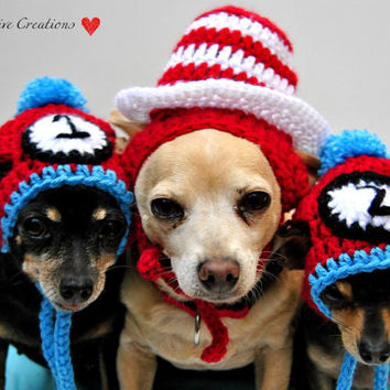 Thing 1 and Thing 2 Dog Hat