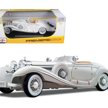 1936 Mercedes 500K Special Roadster White 1-18 Diecast Model Car by Maisto