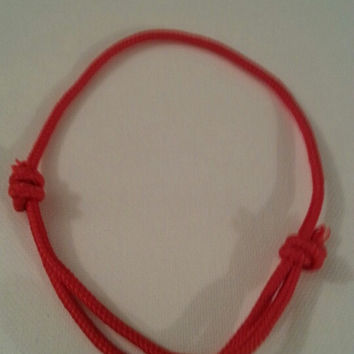 Red 550/325 paracord parachute cord adjustable bracelet