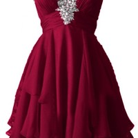 Angel Bride Cute Short Sweetheart Chiffon Cocktail/Homecoming Dresses for Juniors- US Size 2