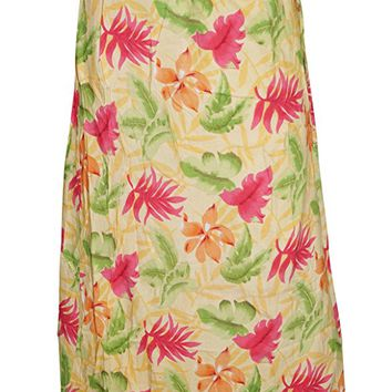 Womens Wrap Around Skirt Hippie Multicolored Floral Printed Maxi Long Wrap Skirts