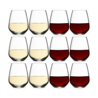Buy Luigi Bormioli Crescendo Stemless Wine Glasses (Set of 12) from Bed Bath & Beyond