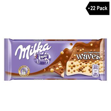 22 Pack Milka Waves with Cookie Pieces