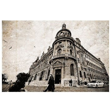 Architecture, Haydarpasa Terminal, Urban photography, istanbul photography, old photo, black and white,  Vintage view, 8'' x12'' inch