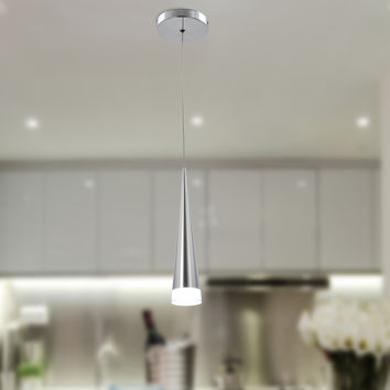 UNITARY BRAND Modern Stainless Steel Warm White LED Acrylic Pendant Light Max 5W Plating Finish