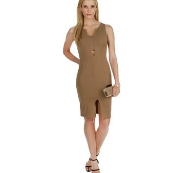 Promo-khaki Get Down Tonight Dress