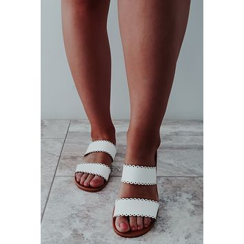 REORDER: Summer Classic Sandals: White