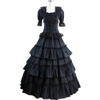 Partiss Women Multi-Layer Floor-length Gothic Victorian Dress
