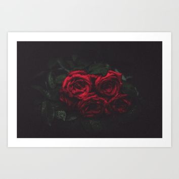 Roses Art Print by Mixed Imagery