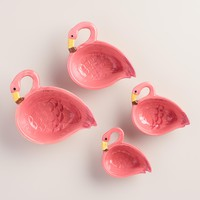 Ceramic Flamingo Measuring Cups