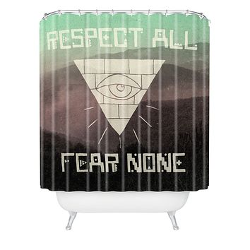 Wesley Bird Fear None Shower Curtain