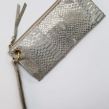 Gold Exotic Hobo Wristlet