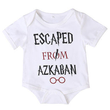 Harry Potter Newborn Baby Funny Infant Kids Baby Boys Girls Cotton Romper Outfit Clothes