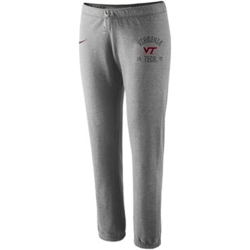 Nike Virginia Tech Hokies Ladies Rally Fleece Pants - Ash