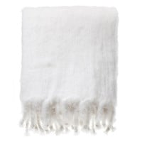 Mohair Blanket White - Tiina the Store