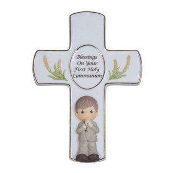 Precious Moments Blessings On Your First Holy Communion Boy Cross