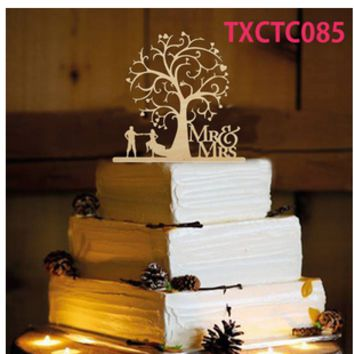 Mr & Mrs Wedding Sign Wedding Decoration Letter White Wood Romantic Marriage Birthday Party Supplies