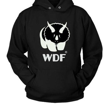 DCCK7H3 World Dinosaur Federation Hoodie Two Sided