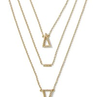 Banana Republic Triangle Layered Necklace Size One Size - Gold