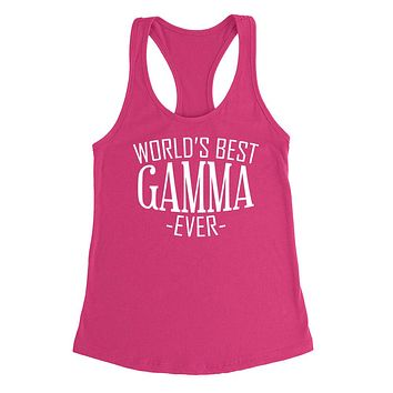 World's best gamma ever  family mother's day birthday christmas  gift ideas  best grandma  grandmother  Ladies  Racerback Tank Top