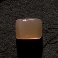 Moonstone: 7.36ct Peach Rectangle Shape Gemstone