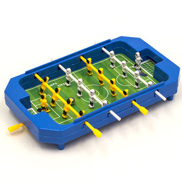 Mini Table Football Top Foosball Board Game Home Soccer Game Set Football Toy Gift for Boys 20*3.5*12cm